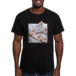 Alishan flowers Men's Fitted T-Shirt (dark)