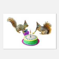Squirrels Birthday Postcards (Package of 8)