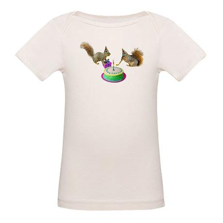 Squirrels Birthday Organic Baby T-Shirt