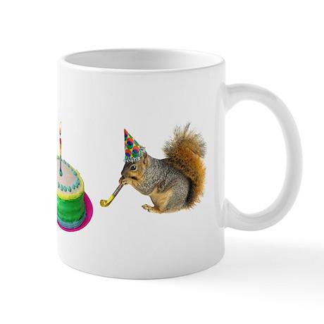 Squirrels Birthday Mug