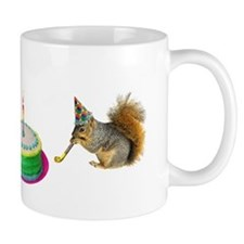 Squirrels Birthday Small Mug