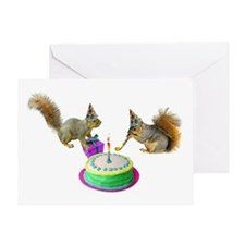 Squirrels Birthday Greeting Card