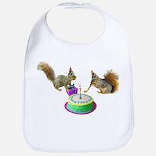 Squirrels Birthday Bib