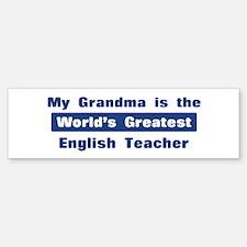Grandma is Greatest English T Bumper Bumper Bumper Sticker