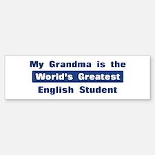 Grandma is Greatest English S Bumper Bumper Bumper Sticker