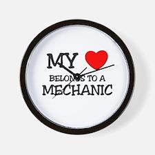 My Heart Belongs To A MECHANIC Wall Clock