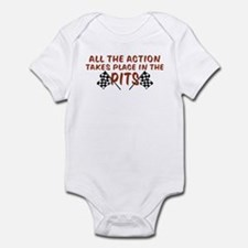 All The Action Takes Place In Infant Bodysuit