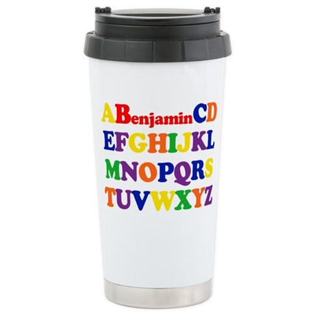 Benjamin - Alphabet Stainless Steel Travel Mug