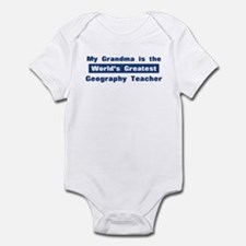 Grandma is Greatest Geography Infant Bodysuit