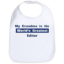 Grandma is Greatest Editor Bib