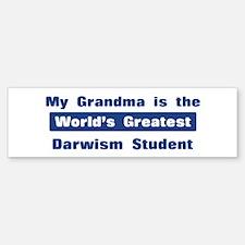 Grandma is Greatest Darwism S Bumper Bumper Bumper Sticker