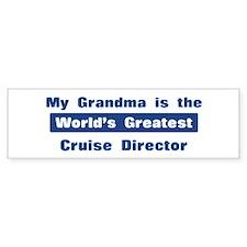 Grandma is Greatest Cruise Di Bumper Bumper Sticker