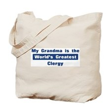 Grandma is Greatest Clergy Tote Bag