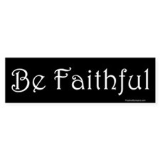 Be Faithful (on black)