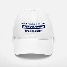 Grandma is Greatest Broadcast Baseball Baseball Cap