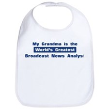 Grandma is Greatest Broadcast Bib