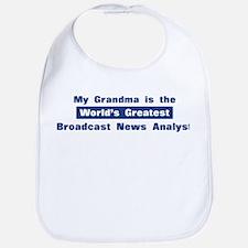 Grandma is Greatest Broadcast Bib