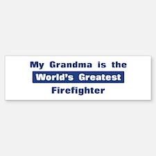 Grandma is Greatest Firefight Bumper Bumper Bumper Sticker