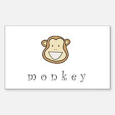Monkey Rectangle Decal