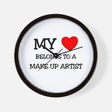 My Heart Belongs To A MAKE UP ARTIST Wall Clock