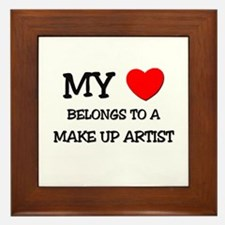 My Heart Belongs To A MAKE UP ARTIST Framed Tile