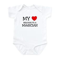 My Heart Belongs To A MAGICIAN Infant Bodysuit