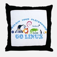 Cute Open suse Throw Pillow