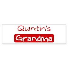 Quintins Grandma Bumper Bumper Sticker