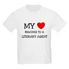 My Heart Belongs To A LITERARY AGENT T-Shirt