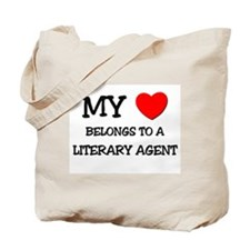 My Heart Belongs To A LITERARY AGENT Tote Bag