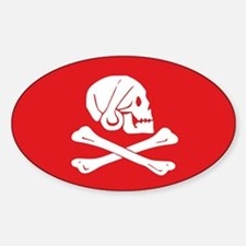 Henry Avery Jolly Roger Oval Decal