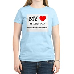 My Heart Belongs To A LIFESTYLE CONSULTANT T-Shirt