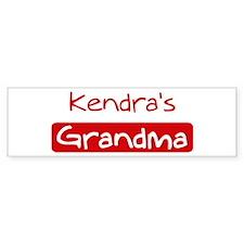 Kendras Grandma Bumper Bumper Sticker