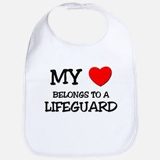 My Heart Belongs To A LIFEGUARD Bib