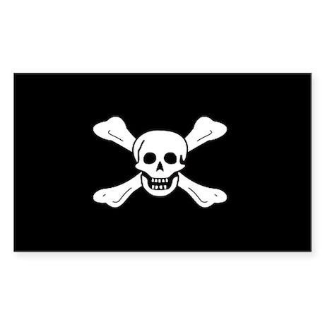 Richard Worley Jolly Roger Rectangle Sticker
