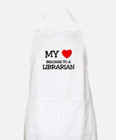 My Heart Belongs To A LIBRARIAN BBQ Apron