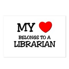 My Heart Belongs To A LIBRARIAN Postcards (Package