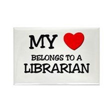 My Heart Belongs To A LIBRARIAN Rectangle Magnet