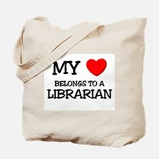 My Heart Belongs To A LIBRARIAN Tote Bag