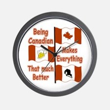 Being Canadian Wall Clock