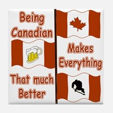 Being Canadian Tile Coaster