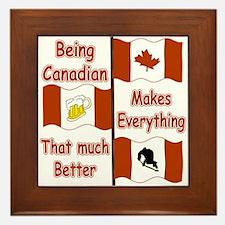 Being Canadian Framed Tile
