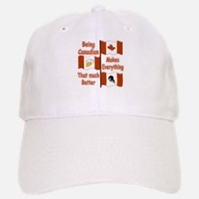 Being Canadian Baseball Baseball Cap