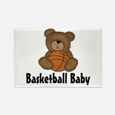 Basketball Baby Rectangle Magnet