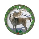 Wolf christmas ornament Ornaments