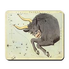 Vintage Celestial Zodiac, Taurus Mousepad