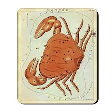 Vintage Celestial Zodiac, Cancer Mousepad