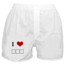 I Love ΣΦΕ Boxer Shorts