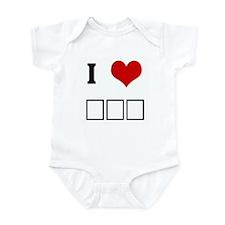 I Love ΣΦΕ Infant Bodysuit