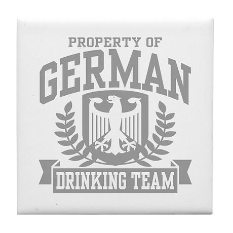 German Drinking Team Tile Coaster